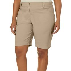 Coral Bay Golf Plus Bengaline Solid Shorts