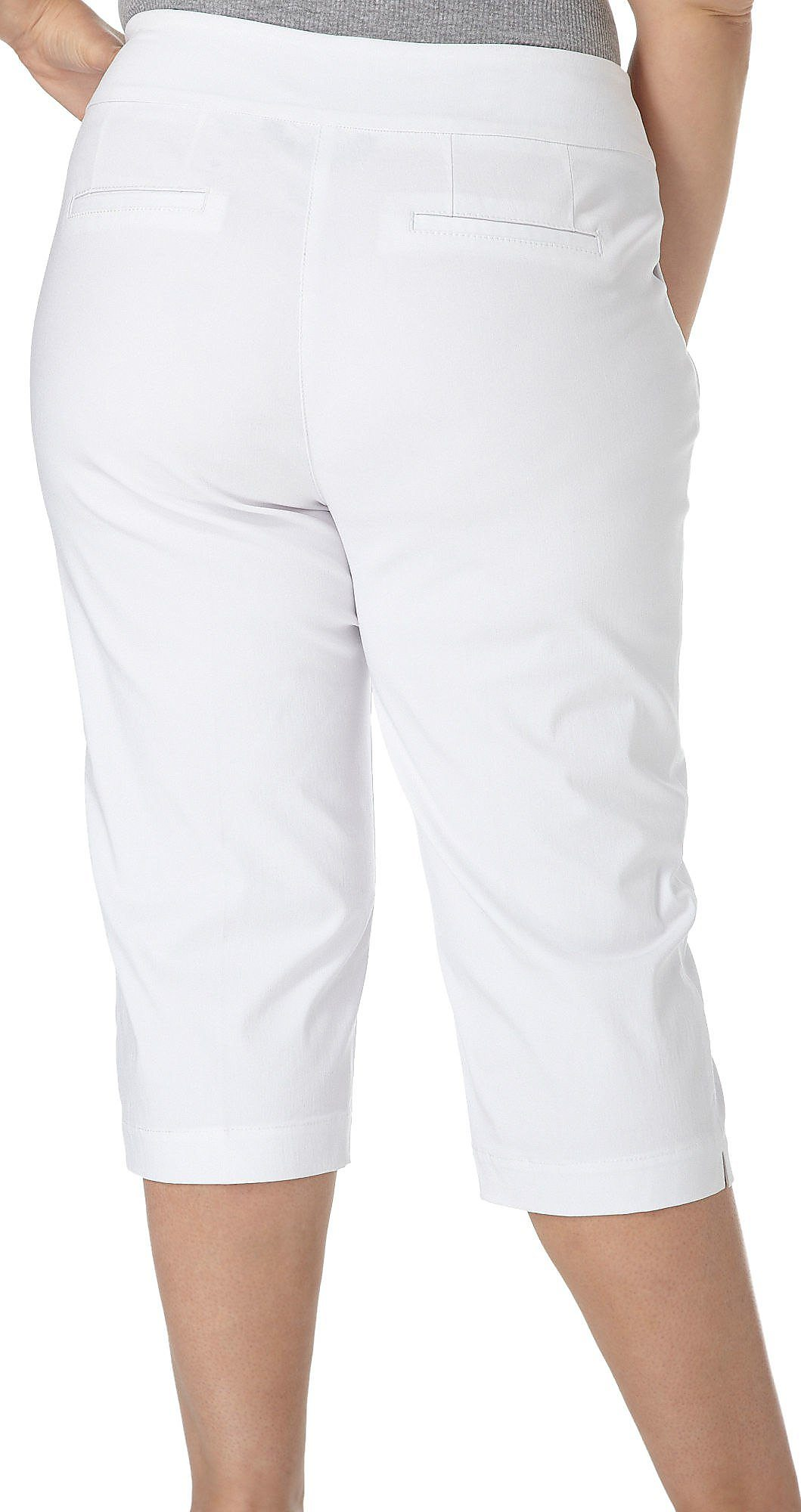 35a0e70961fdd Alia Plus Tech Stretch Tummy Trim Capris 18w White. About this product.  Picture 1 of 4  Picture 2 of 4  Picture 3 of 4 ...