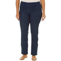 Alia Plus Diamond Denim Ankle Pants