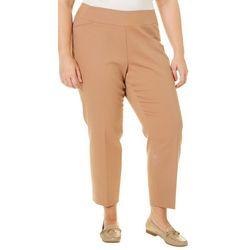 Alia Plus Solid Pull-On Ankle Pants
