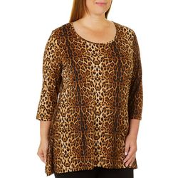 Alia Plus Cheetah Print Tunic Top