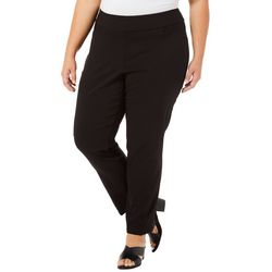 Alia Plus Elastic Waist Tech Stretch Pants