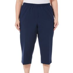 Alia Plus Feather Touch Solid Pull On Capris