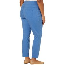 Alia Plus Elastic Waist Heathered Tech Stretch Pants