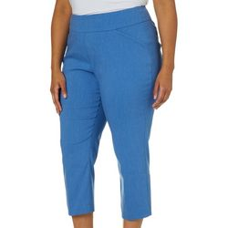Alia Plus Heathered Tech Stretch Ankle Pants