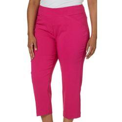 Alia Plus Solid Tech Stretch Crop Pants