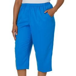 Alia Plus High Rise Solid Pull On Crop Pants