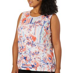 Alia Plus Embellished Floral Sleeveless Top