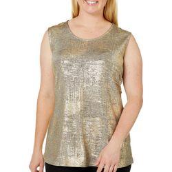 Alia Plus Metallic Sleeveless Top