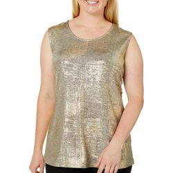 Alia Plus Metallic Sleeveless Top