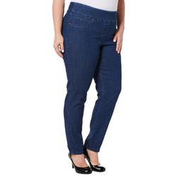 Alia Plus Denim Pull On Skinny Jeans