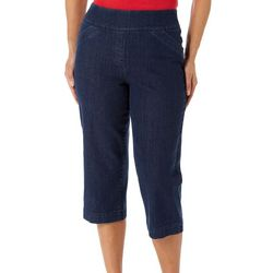 Alia Plus Diamond Denim Capris