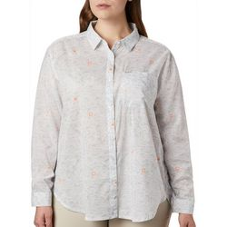 Columbia Womens PFG Sun Drifter II Buoy Waves Shirt