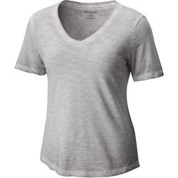 Columbia Plus Sandy River Solid V-Neck Top