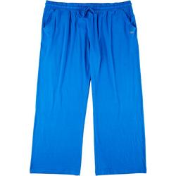 Plus Solid Beach Day Elastic Waist Pants