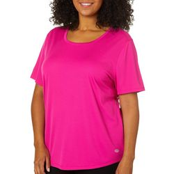 Reel Legends Plus Freeline Solid Texture Round Neck Top