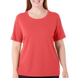 Reel Legends Plus Freeline Solid Round Neck Knit Top