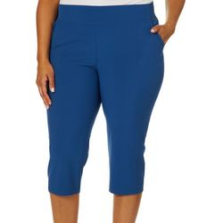 Reel Legends Plus Woven Stretch Capris