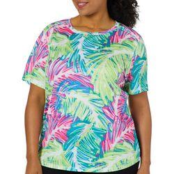 Reel Legends Plus Freeline Sketched Palm Short Sleeve Top