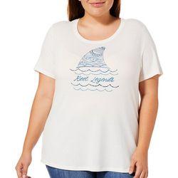Reel Legends Plus Shark Fin Logo T-Shirt