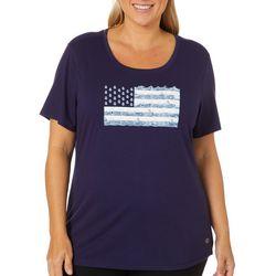 Reel Legends Plus Coastal American Flag Top