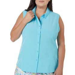 Reel Legends Plus Adventure Solid Sleeveless Top
