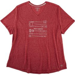 Reel Legends Plus Oars Heathered V-Neck Top