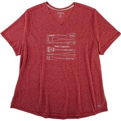Plus Oars Heathered V-Neck Top