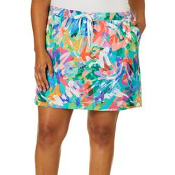 Reel Legends Plus Adventure Colorful Scribble Skort