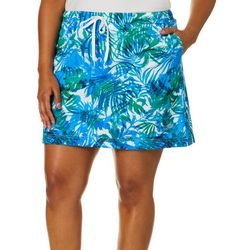 Reel Legends Plus Adventure Airy Palms Drawstring Skort