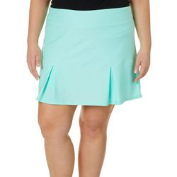 Reel Legends Plus Keep It Cool Solid Pleated Skort