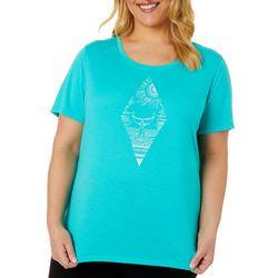 Plus Reel Ocean Scene Print T-Shirt