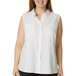 Plus Saltwater Solid Sleeveless Top