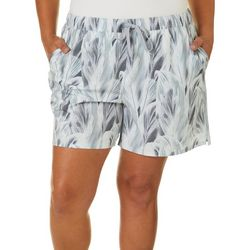 Reel Legends Plus Adventure Layered Leaves Pull On Shorts