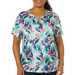 Reel Legends Plus Freeline Printed Garden Shimmer Top