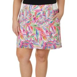 Reel Legends Plus Adventure Jazzy Palms Skort