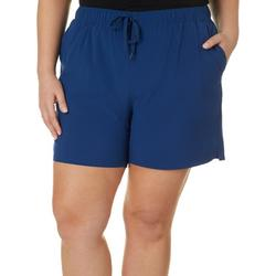 Plus Adventure Solid Pull On Shorts