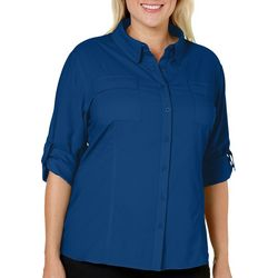 Reel Legends Plus Saltwater Button Down Shirt