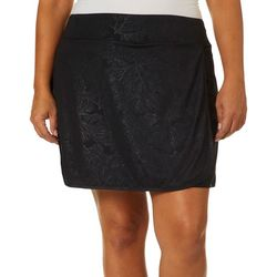Reel Legends Plus Keep It Cool Fan Coral Deboss Skort