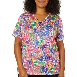 Reel Legends Plus Reel-Tec Rainbow Jungle Short Sleeve Top