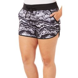 Reel Legends Plus Keep It Cool Agate Rock Drawstring Shorts