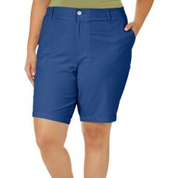 Reel Legends Plus Solid Comfort Waist Bermuda Shorts