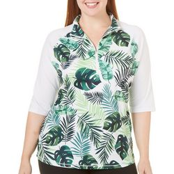 Reel Legends Plus Keep It Cool Jungle Leaf Top