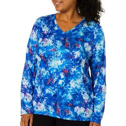 Reel Legends Plus Reel-Tec Organic Splatter Long Sleeve Top