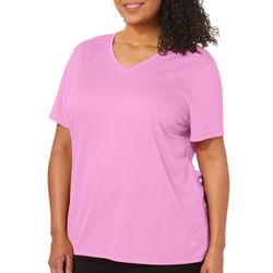 Reel Legends Plus Freeline Shimmer V-Neck Top