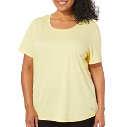 Reel Legends Plus Freeline Shimmer Scoop Neck Top