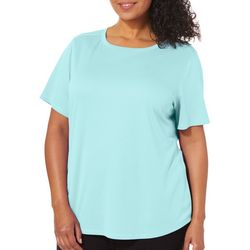 Reel Legends Plus Freeline Shimmer Round Neck Top