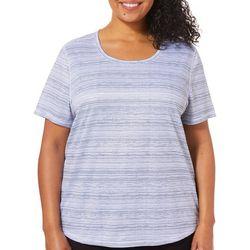 Reel Legends Plus Freeline Broken Stripe Short Sleeve Top