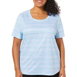 Reel Legends Plus Freeline Broken Stripe Short Sleeve Top