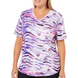 Reel Legends Plus Freeline Ink Wash Wave Stripe Top